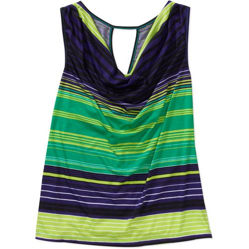 in The Mix Women's Plus-Size Draped Twist-Back Knit Tank