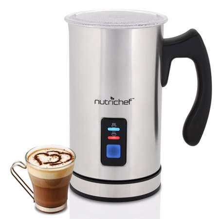 NutriChef PKMFR14 - 2-in-1 Electric Milk Frother & Milk Warmer