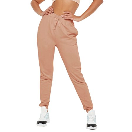 (Womens Jogger Pants French Terry Lightweight Cotton Blend Casual Sweatpants with Pockets)