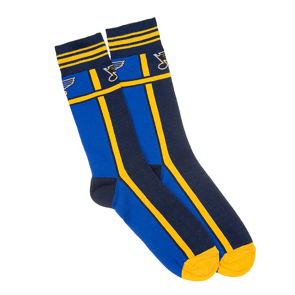 Sportin Styles SPS-2076821-L St. Louis Blues Nhl Stylish Team Sock Stripes [1 Pair] [m-l]
