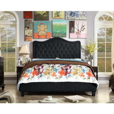Image of Alton Furniture Agnella Full Upholstered Platform Bed, Charcoal