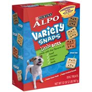 Purina ALPO Variety Snaps Little Bites Dog Treats with Beef, Chicken, Liver & Lamb Flavors 32 oz. Box