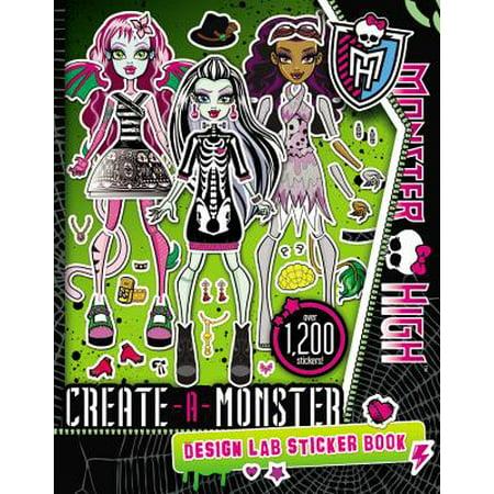 Monster High: Create-A-Monster Design Lab Sticker Book (Create A Monster Design Lab)