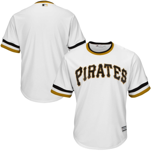 Pittsburgh Pirates Majestic Youth Cooperstown Collection Jersey - White