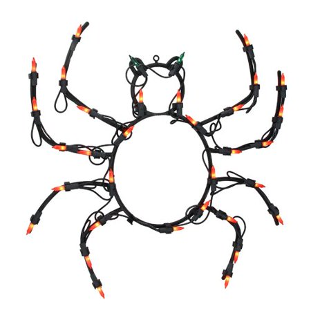 Halloween Displays For Sale (The Holiday Aisle 15'' Spider Halloween Window Silhouette Decoration Lighted)