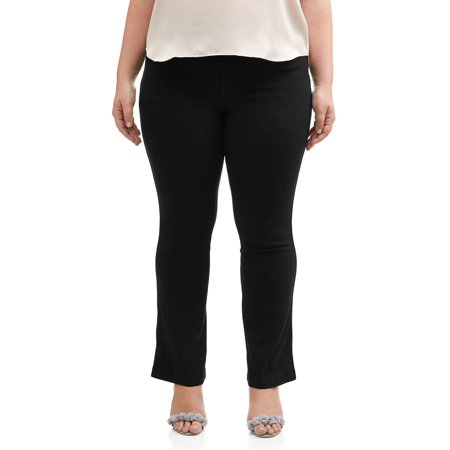 Stretch Air Pants - Women's Plus-Size 4-Pocket Stretch Boot cut Pull-On Denim Jeans, Available in Regular and Petite Lengths