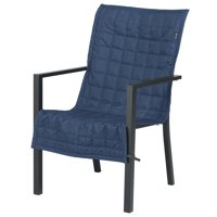 """Classic Accessories Montlake FadeSafe Patio Chair Slipcover - Water Resistant Outdoor Furniture Cover, 45""""L x 20""""W, Heather Indigo"""