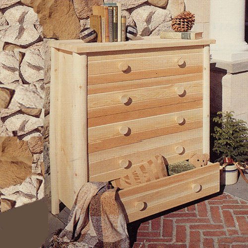 Rustic Natural Cedar Furniture Wheatfields Five Drawer Chest