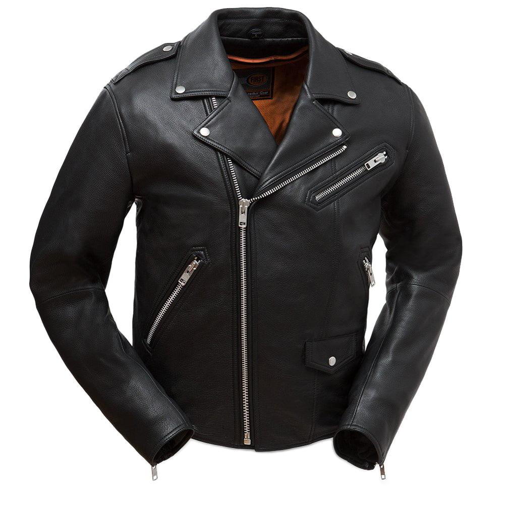 First Manufacturing Men's Enforcer Motorcycle Jacket Blac...