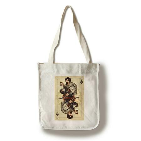 Jack of Spades - Playing Card - Lantern Press Artwork (100% Cotton Tote Bag - Reusable) (Play Card Tote)