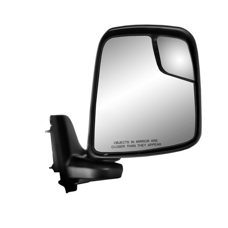 - 68109N - Fit System Passenger Side Mirror for 13-18 Nissan NV 200, textured black, spot Mirror, swing away, Manual
