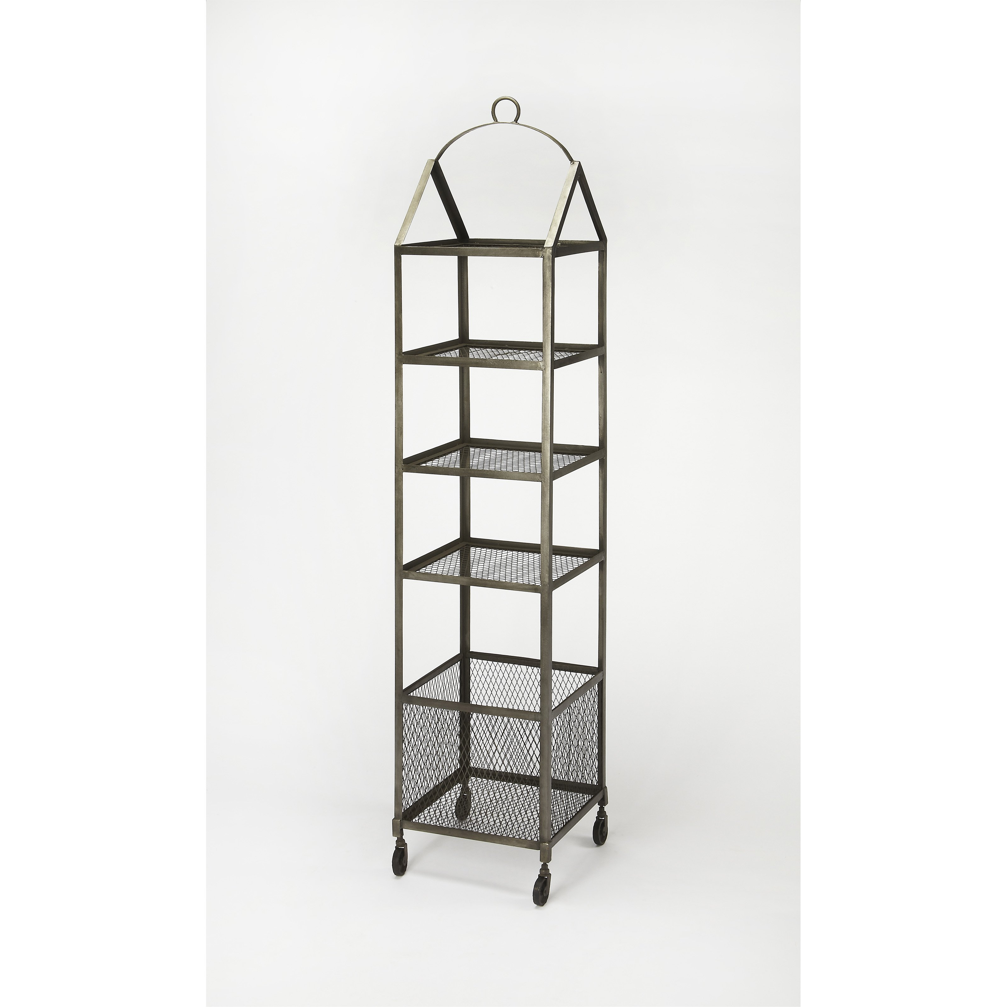 Butler Industrial Chic Trammel Etagere Bookcase Gray by Butler