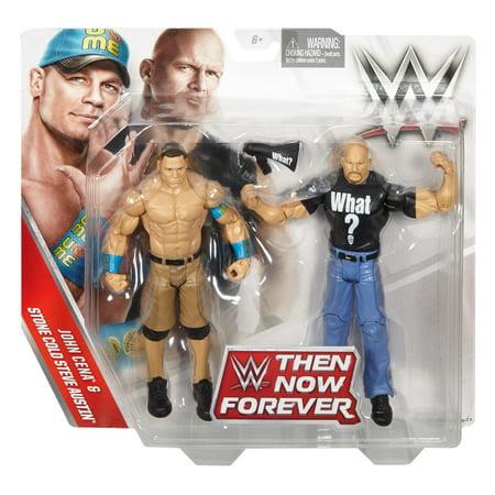 Wwe Then Now Forever John Cena Stone Cold Steve Austin Figure 2