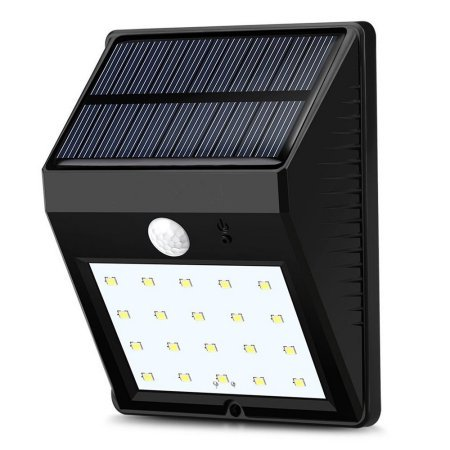 20 LED Solar Panel Powered Motion Sensor Wall Lamp Outdoor Light Garden  Security Wall Light For