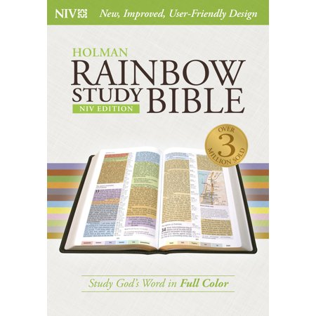 NIV Rainbow Study Bible, Jacketed Hardcover (Best Bible For Bible Study)