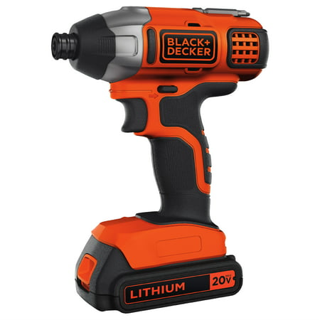 BLACK+DECKER 20-Volt MAX* Lithium-Ion Cordless Impact Driver,