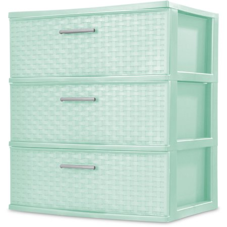 sterilite 3 drawer wide weave tower spearmint. Resume Example. Resume CV Cover Letter