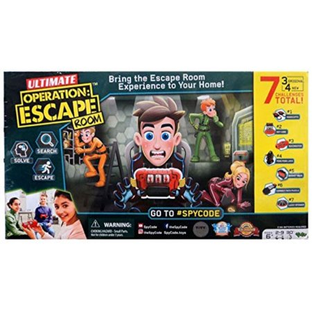 Spy Code Ultimate Operation Escape Room with 3 Original Challenges Plus 4 New Challenges for More Fun and Excitement, Search Sol (Operation Search)