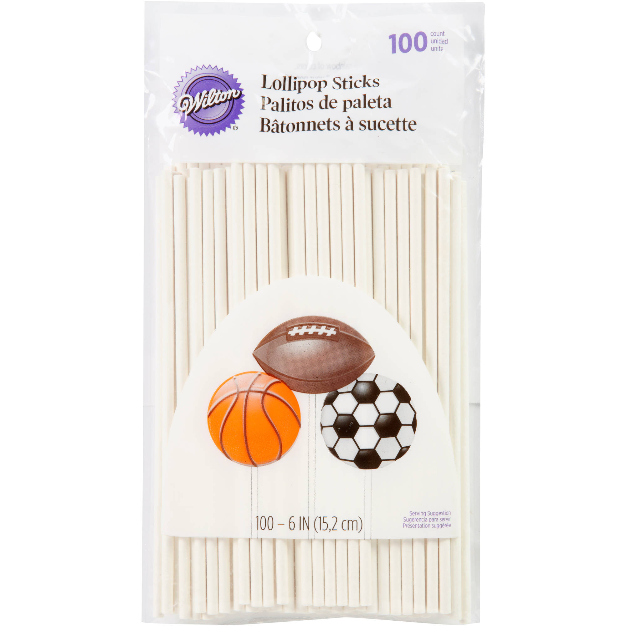 "Wilton 6"" Lollipop Sticks, White 100 ct. 1912-1002"