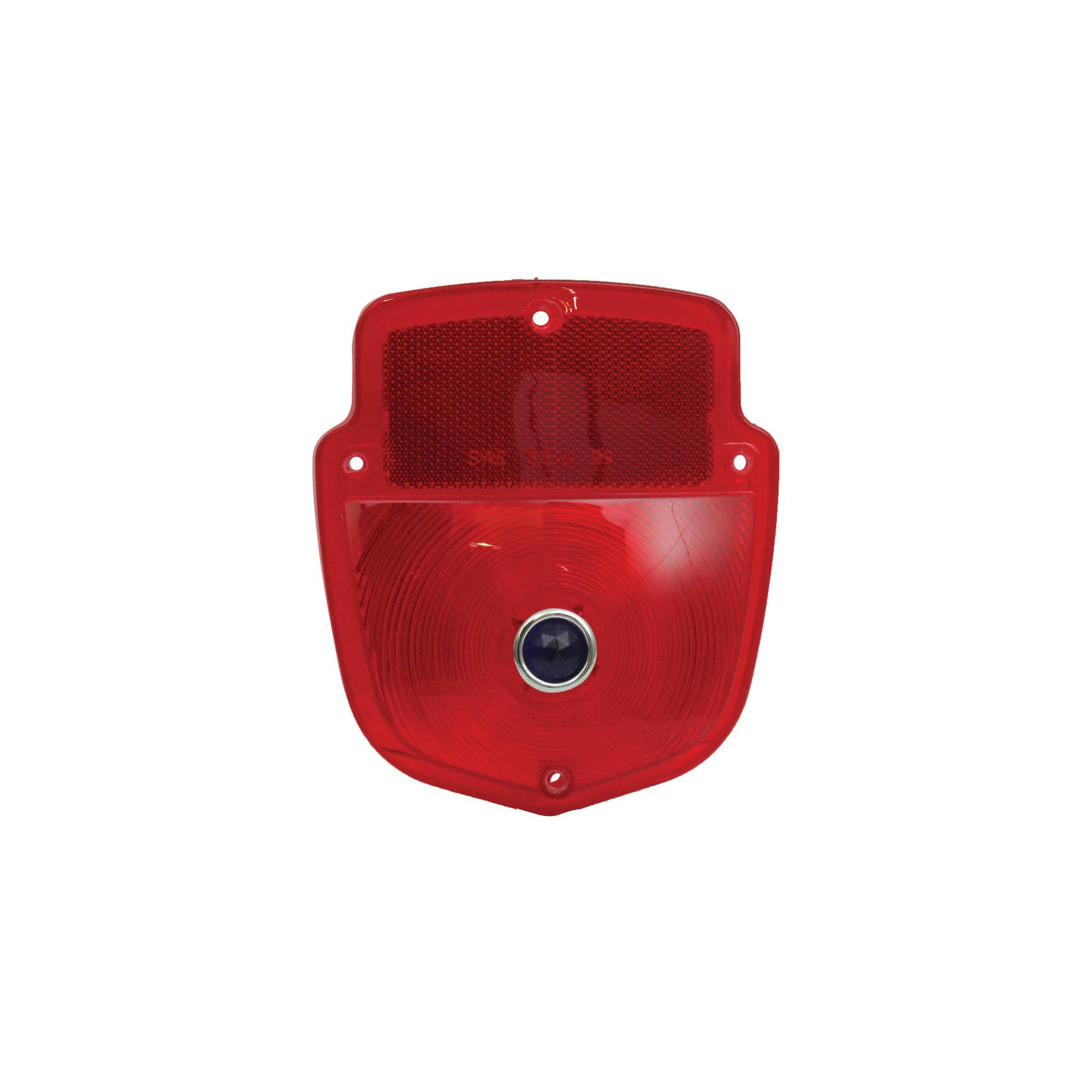 Red GlassLens With Blue Dot Lens Shield Type Flareside Pickup MACs Auto Parts 48-31709 Pickup Truck Tail Light Lens