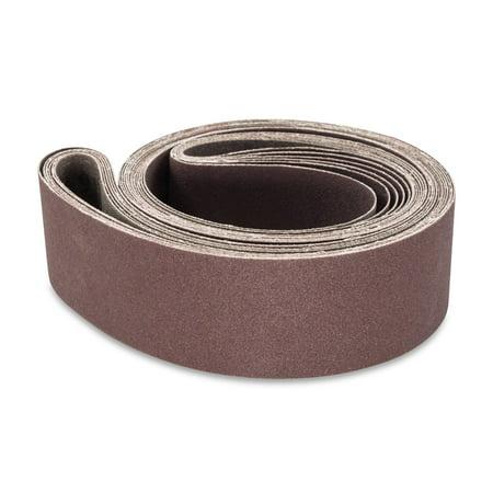 2 X 72 Inch Aluminum Oxide Metal Sanding Belts, 6