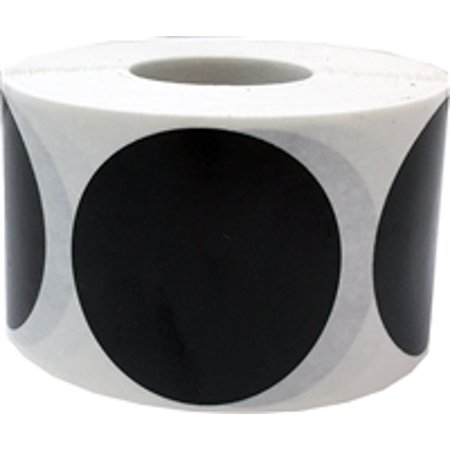 Black Circle Dot Stickers, 1 5 Inches Round, 500 Labels on a Roll