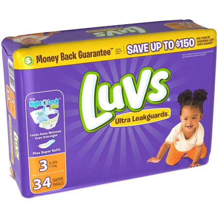 Luvs Ultra Leakguards Diapers, Size 6, 34 Diapers