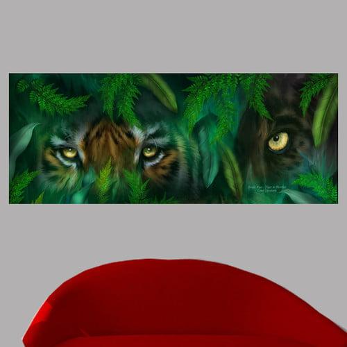 Wallhogs Cavalaris Jungle Eyes   Tiger and Panther Wall Mural