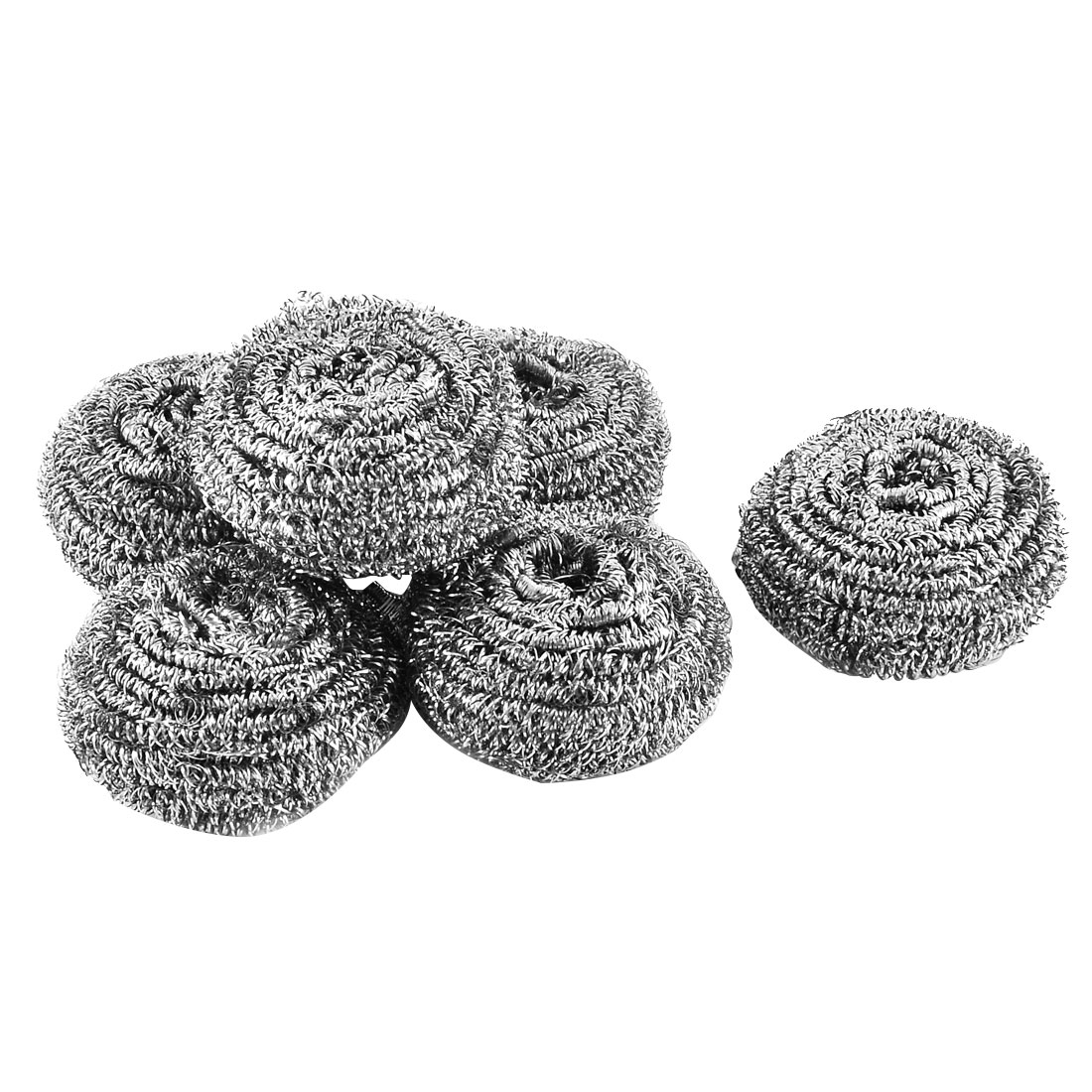 Kitchen Essential Pot Pan Stainless Steel Scrubber Scouring Pad 6 Pcs