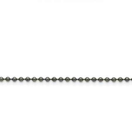 Stainless Steel 2.40 mm Beaded Ball Antiqued Chain 20in