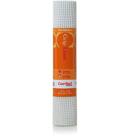Con-Tact Brand Beaded Grip Non-Adhesive Shelf Liner, White