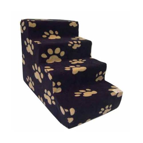 Pet Steps in Beige Paws on Black (4 Steps)