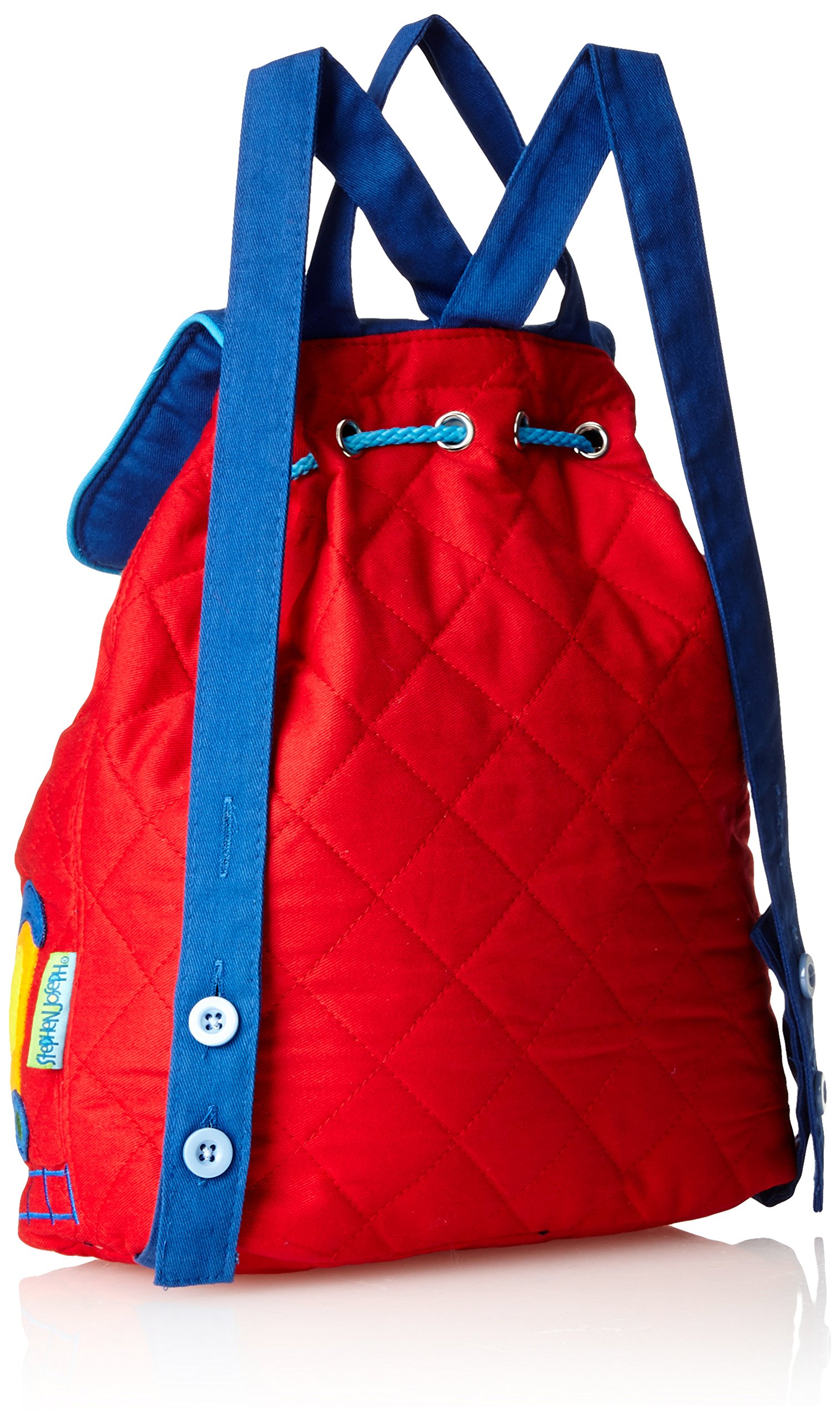 Stephen Joseph Quilted Backpack, Train |