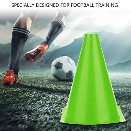 Ashata 6pcs 18cm Soccer Training Cone Football Barriers Plastic Marker Holder Accessory, Football Training Holder, Football - Personalized Plastic Footballs