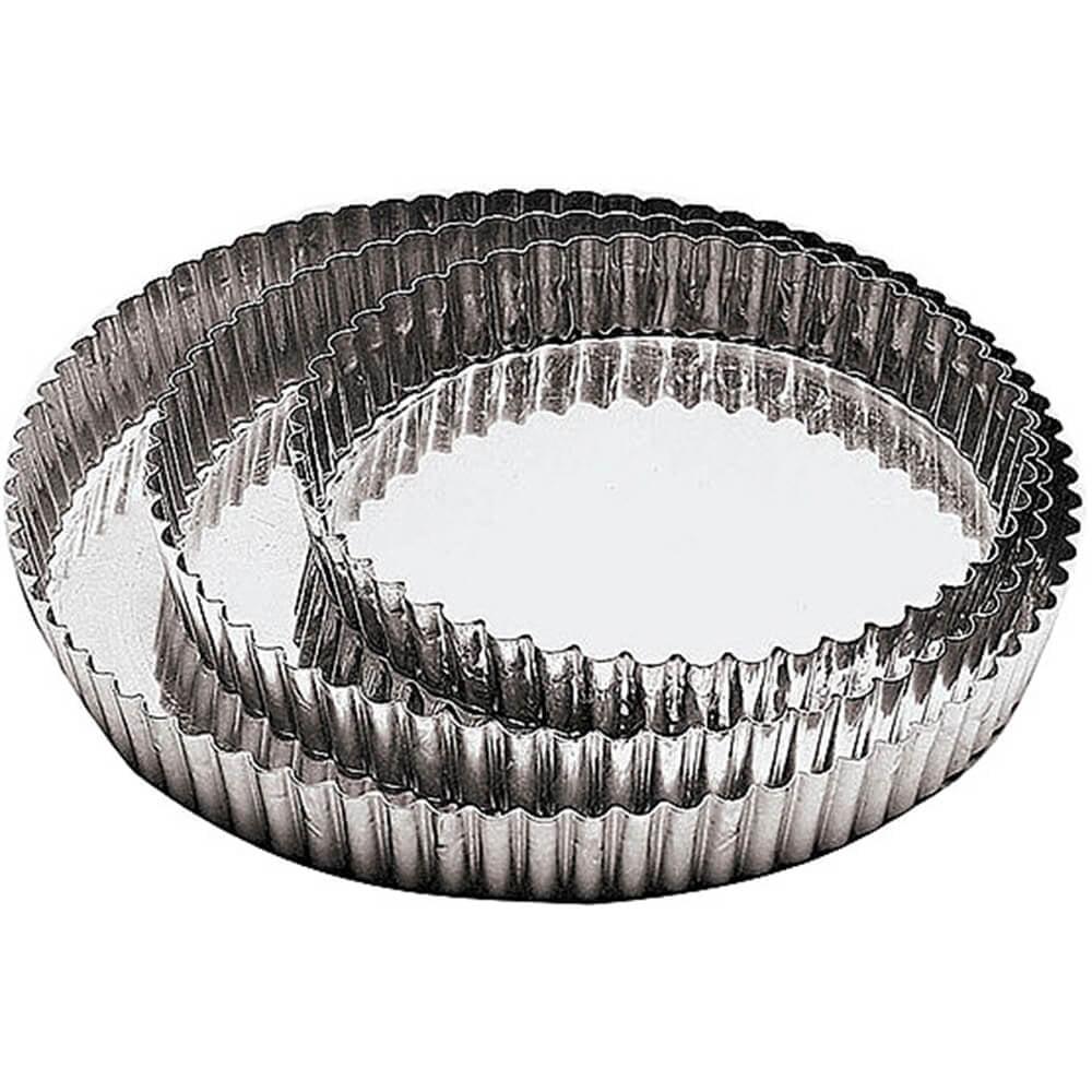 "Paderno World Cuisine Tin Non-stick Tart Mold, Removable Bottom, 8.63"", A4770222"