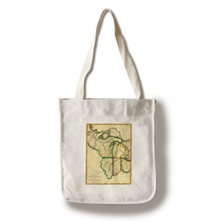 Midwest Tote - Midwest in the United States - (1810) - Panoramic Map (100% Cotton Tote Bag - Reusable)