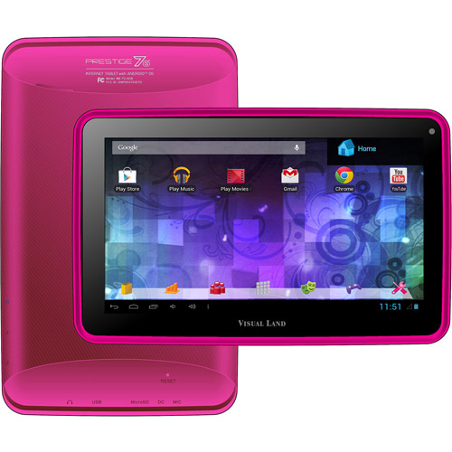 "Visual Land Prestige 7"" Tablet 8GB includes Screen Protector"