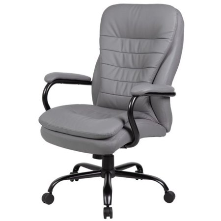 Pemberly Row Fabric High Back Office Swivel Chair in Gray