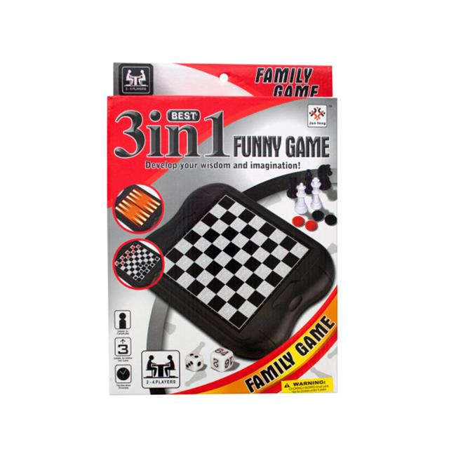 Bulk Buys OB988-12 3-In-1 Classic Game Set