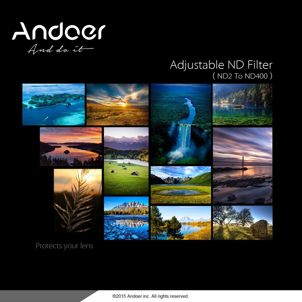 Andoer 77mm Nd Fader Neutral Density Adjustable Nd2 To Nd400 Variable Filter For Canon Nikon Dslr Camera Walmart Com Walmart Com