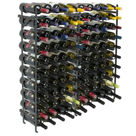 Sorbus Freestanding Wine Rack- 100 Bottle Capacity, Black