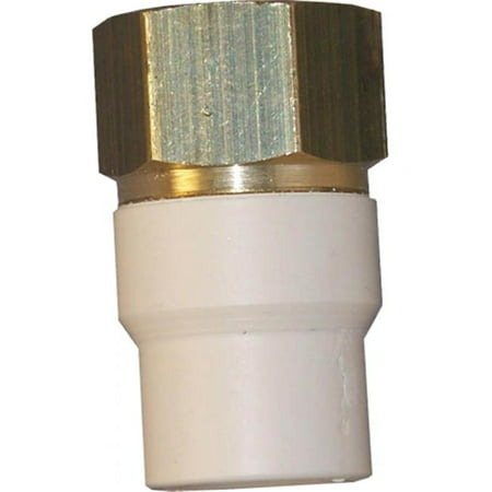 Genova Products 57907Z 3 4 Low Lead CPVC Transition Adapter FIP