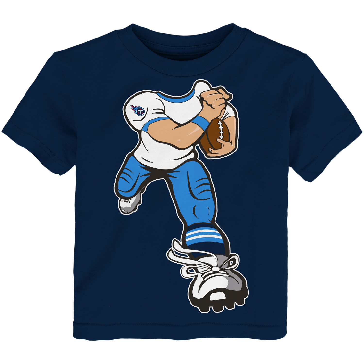 Tennessee Titans Toddler Yard Rush T-Shirt - Navy - 2T