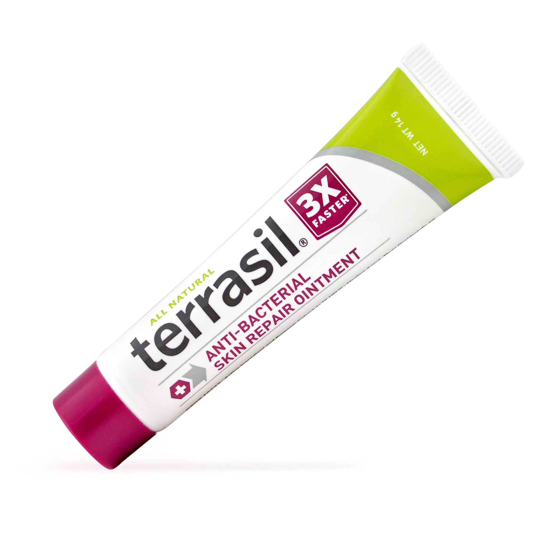 Terrasil® Antibacterial Skin Repair Ointment with All-Natural Activated Minerals® for the Healing of Skin Irritation, Ulcers, Blisters and More 3X Faster (14gm tube size)