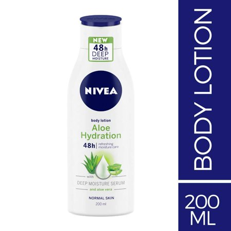 NIVEA Aloe Hydration Body Lotion, 200ml, with deep moisture serum and aloe vera for normal