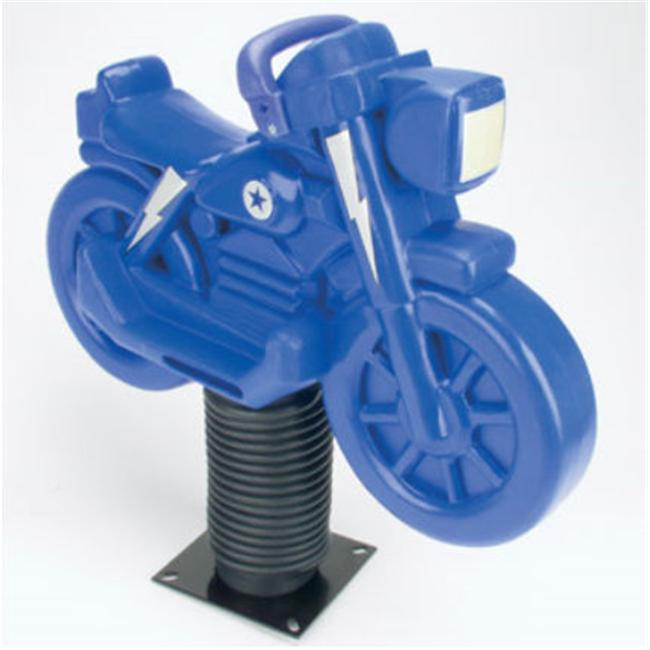 Jensen SP250M-B Motorcycle Roto Molded Spring Ride - Blue
