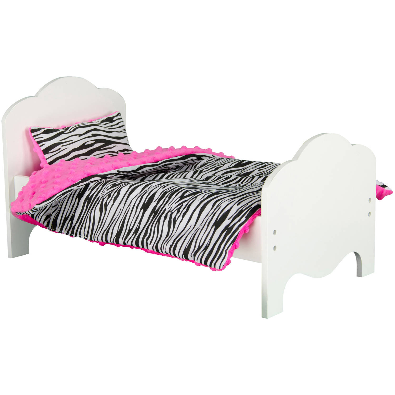 "Olivia's Little World Princess Bedding for 18"" Dolls, Zebra Prints"