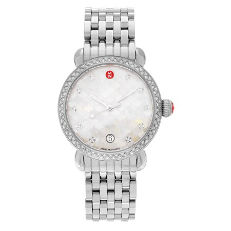 0c3faf3e56613 Michele Women s  CSX-36  MWW03R000001 Stainless Steel 5 8 CT TDW Diamond  Link Watch - Walmart.com