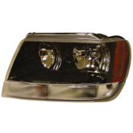 Go-Parts » 1999 - 2004 Jeep Grand Cherokee Headlight Headlamp Assembly Front (Grand Cherokee Laredo/Sport From 1/14/02) - Left (Driver) 5103401AA CH2502138 Replacement For Jeep Grand
