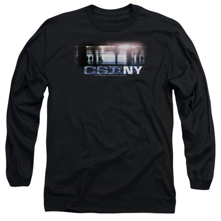 Csi Tv Show Cbs New York Subway Adult Long Sleeve T Shirt Tee